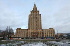 Latvia, Riga, Academy of Science (or Stalin's Birthday Cake!)