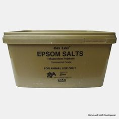 Gold Label Epsom Salts Old fashioned drawing agent of commercial grade to be mixed with bran mash.