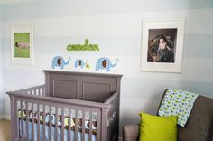 Green, Blue and Gray Elephant-Themed Nursery - Project Nursery