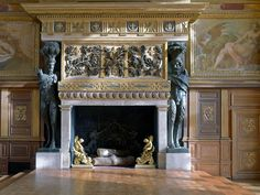 Palace of Fontainebleau France Interior rooms Palace OR of OR Fontainebleau OR Guide OR France White Fireplace, Fireplace Wall, Fireplace Surrounds, Fireplace Design, Fireplace Mantels, Mantles, Renaissance, English Country Style, Rococo Style