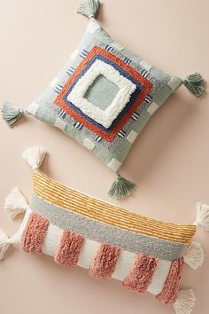 Buy the Tufted Rayas Pillow and more anthropology from Anthropologie today. - Healthy Skin Care : Buy the Tufted Rayas Pillow and more anthropology from Anthropologie today. Couture Main, Earthy Style, Punch Needle Patterns, Textiles, Punch Art, Punch Punch, Rug Hooking, Handmade Home, Decorative Pillows