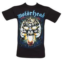 Hombres Negro Motorhead Overkill T-Shirt