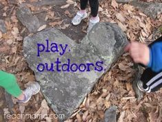 get your kids outside. . . no matter the weather #weteach