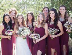 Estate Marsala Wedding - marsala bridesmaids dresses