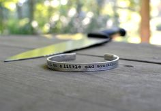 We All Go A Little Mad Sometimes Bracelet - Halloween - Horror - Spooky - For Him - For Her - Unisex - Psycho - Silver - Movie Quotes