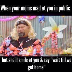 This was my gran growing up lol my mum too but she wasnt as ruthless like my gran giving the hidings haha Haha Funny, Funny Texts, Funny Jokes, Hilarious, Lol, Polynesian Art, Polynesian Culture, Dark Humor Jokes, Jokes Quotes