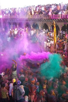 Holi, Hindu Festival of Colours in India. One day, I will go to this. Basically, the first day people burn all of the evils in the world at bonfires. The next day or so there us throwing colored powder, paint and water. On the last day people wear white to symbolize purity and meet up to rejoice. This is the week of Christian Easter and Jewish passover.