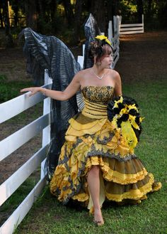 Custom Wedding Dresses that are Made to your Measurements by Multi Award Winning Bridal Salon in NJ. Specializing in Plus Sizes, Gothic, Red, Black and Unique Wedding Dresses. Yellow Wedding Dress, Custom Wedding Dress, Modest Wedding Dresses, Wedding Bridesmaid Dresses, Wedding Dress Styles, Wedding Gowns, Medieval Wedding, Gothic Wedding, Halloween Wedding Dresses