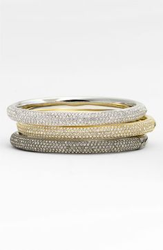 Pave Crystal Hinged Bangle