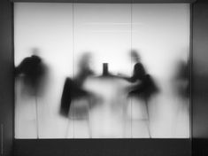 Two silhouettes against frosted glass by Kirstin Mckee - Stocksy United Interaktives Design, Display Design, Glass Photography, White Photography, Instalation Art, Scenic Design, Stage Design, Theatre Design, Light And Shadow