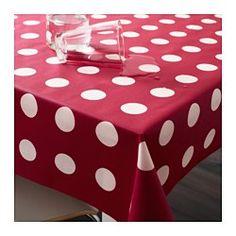 IKEA - LIALOTTA, Plastificirana tkanina, Tkanina presvučena akrilnim vlaknom lako se čisti. Samo je prebrišite ili operite u perilici.Može se odrezati na željenu duljinu bez porubljivanja.