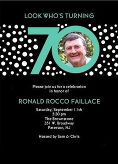 Image Result For 70th Birthday Invites Men 75th Parties 90th Celebration