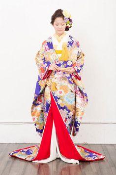 kimono 着物 色打掛  大手他店参考価格40万→158,000円 #japan #kimono #wedding #結婚式 #着物 #和装 #色打掛