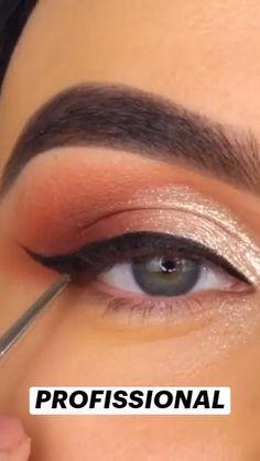 Eye Makeup Tips, Makeup Goals, Makeup Trends, Beauty Makeup, Hair Makeup, Cool Makeup Looks, Cute Makeup, Makup Looks, Hooded Eye Makeup Tutorial