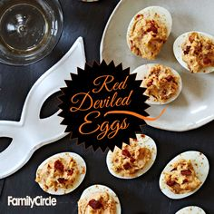 Red Deviled Eggs #halloween #appetizers #fall