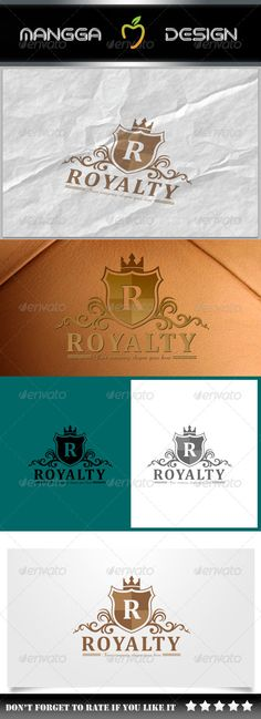 Royalty  Crest Logo — Vector EPS #agency #firm • Available here → https://graphicriver.net/item/royalty-crest-logo/8079835?ref=pxcr