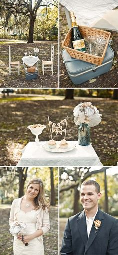 anniversary photos, Love the little picnic idea, with our cake from the wedding :)