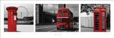 London England Red Triptych Photography Poster Print This poster features three images of London, England. London Photography, Image Photography, Travel Room Decor, Framing Canvas Art, Triptych Art, Dorm Design, London England, Poster Prints, Art Print