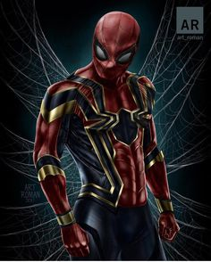 Spiderman in iron-spider suit Marvel Comics, Marvel Heroes, Captain Marvel, Marvel Avengers, Spiderman Marvel, Comic Book Characters, Comic Character, Ultimate Spider Man, Comic Manga