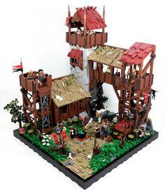Orc Fort — BrickNerd - Your place for all things LEGO and the LEGO fan community Lego Design, Lego City, Legos, Lego Village, Lego Dragon, Lego Robot, Lego Blocks, Lego Castle, Cool Lego Creations