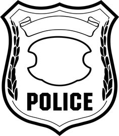 police officer badge clip art here are some of the templates rh pinterest com