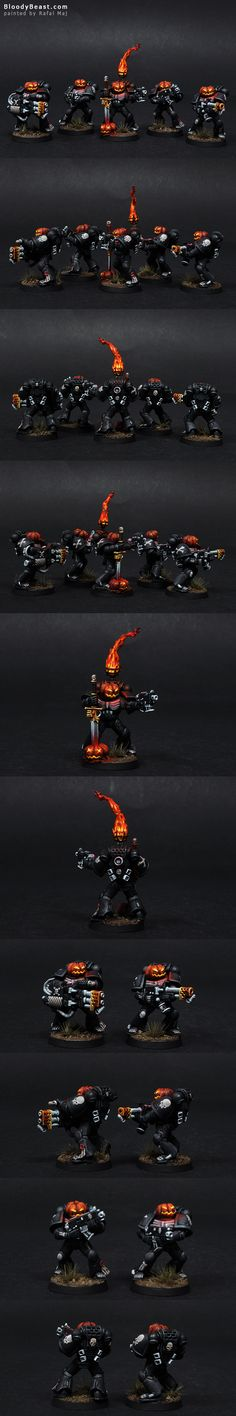 """Halloween Legion of the Damned convereted by """"Pszemek""""(?) and painted by Rafal Maj"""