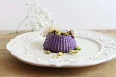 Flan di cavolo viola e pistacchi