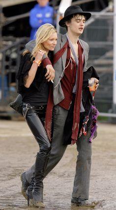 Les looks de Kate Moss au festival de Glastonbury, Pete Doherty
