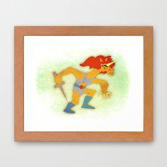 Thunder Unicorn Framed Art Print