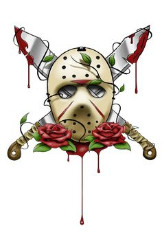 jason vorheess artwork | Jason Voorhees Mask Tattoo by ~artisticrender on deviantART
