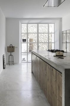 Kitchen counter. Cemcrete. munarq-felanitx-house-mallorcao