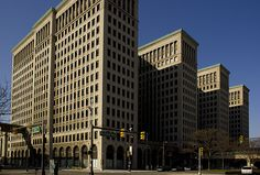 Photo 20130526. Detroit. The Quadriptych Cadillac Place (c.1923, formerly the General Motors Building).
