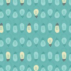 Light Bulb Pattern / Alyssa Nassner #pattern #grafica #illustrazione