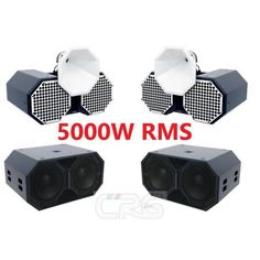 Super set impianto CLUB da installazione 5000W Rms passivo 2 subwoofer doppio 15 + 2 satelliti TOP doppio 12