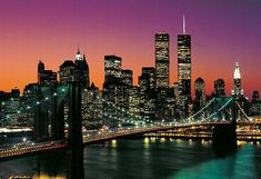 Wallpaper NEW YORK wall mural BROOKLYN BRIDGE photo Manhattan Skyline