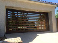 custom mahogany garage door