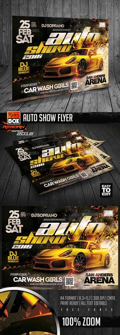 Auto Show Flyer — Photoshop PSD #autoshow #monkeybox • Available here → https://graphicriver.net/item/auto-show-flyer/18527842?ref=pxcr