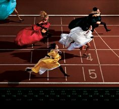 Jean-Paul Goude, Running, Paris, 1996! Represented by Hasted Kraeutler gallery in NY