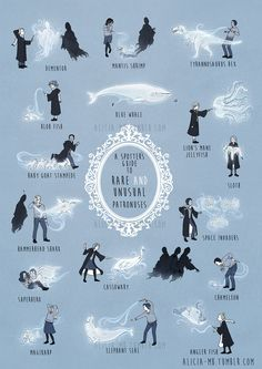 Rare and Unusual Patronuses.  T-REX IS MINE!