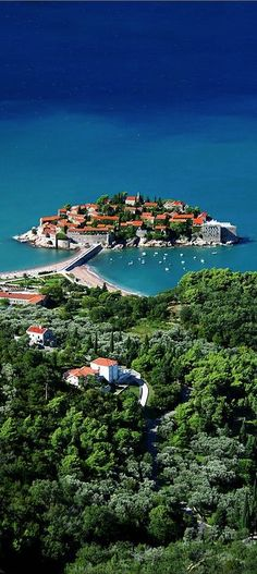 Sveti Stefan - a small island and 5-star hotel resort on the Adriatic coast of Montenegro