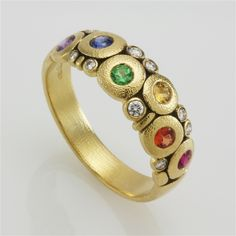 Alex Sepkus rainbow #sapphire Candy Dome ring #color