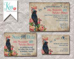 Printable Wedding Invitation Country Chic Bird vintage Wedding Invitations - rustic wedding - DIY Printable on Etsy, $25.00