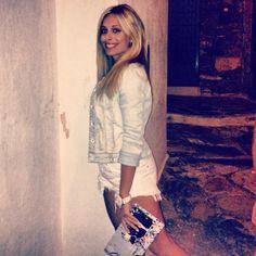 Stella Giarma with LovelyHandMade Clutch!!!