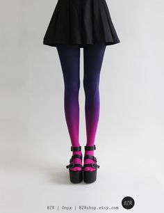 BZR Ombré tights in Nebulous by BZRshop on Etsy