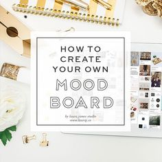 learn how to create a mood board to inspire your business visual brand identity and narrow your focus with these easy steps from Laura James Studio