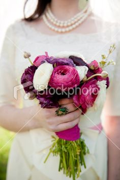 love the colours of the flowers in the bouquet