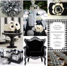 Black And White Bridal Shower Ideas