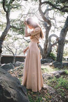 magnolia skirt in dusty peach — Kara Thoms