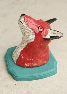 paper mache animal head - a fun project to do with the kids