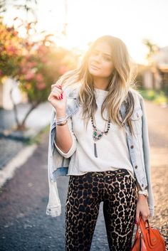 Meu look – Leopard Pants!